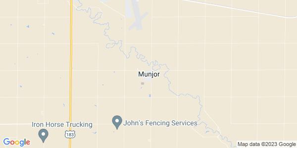 Map of Munjor, KS