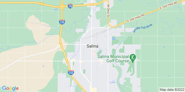 Map of Salina, KS
