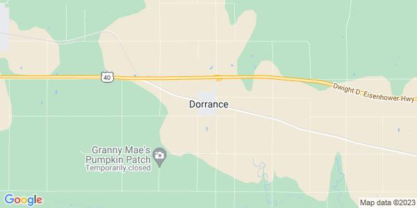 Map of Dorrance, KS
