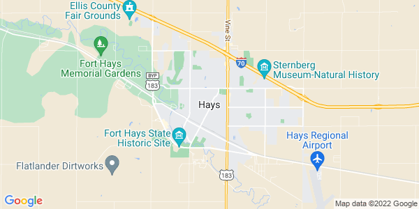 Map of Hays, KS