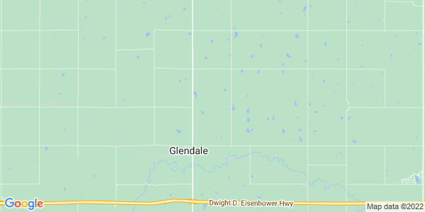 Map of Glendale, KS