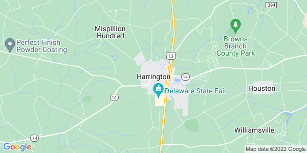 Map of Harrington, DE