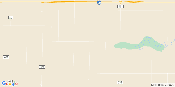 Map of Collyer Township, KS