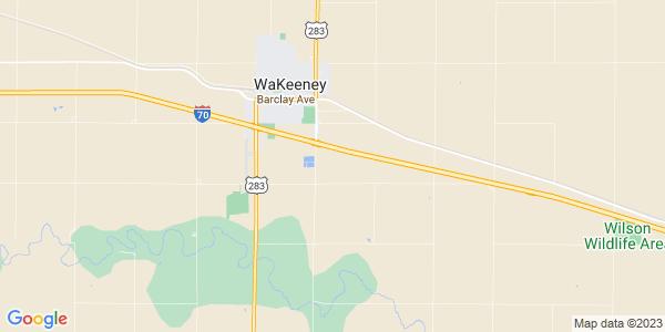 Map of WaKeeney Township, KS