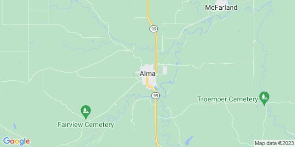 Map of Alma, KS