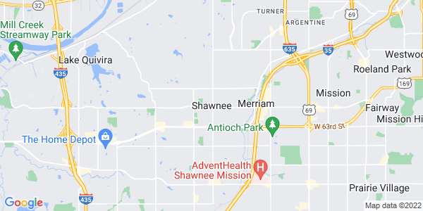 Map of Shawnee Mission, KS