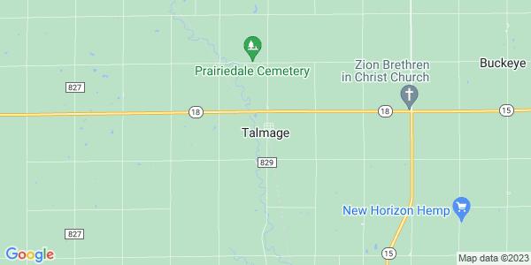 Map of Talmage, KS