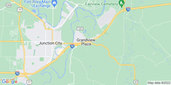 Map of Grandview Plaza, KS