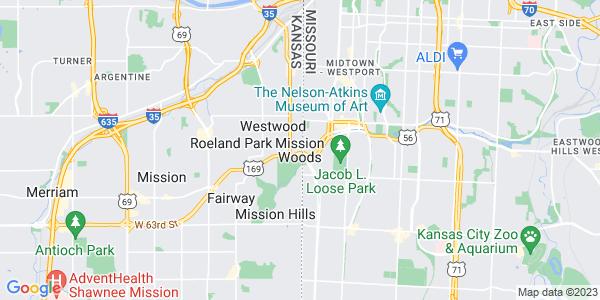 Map of Mission Woods, KS