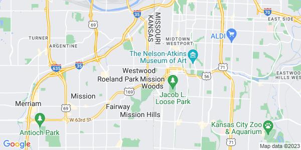 Map of Westwood Hills, KS