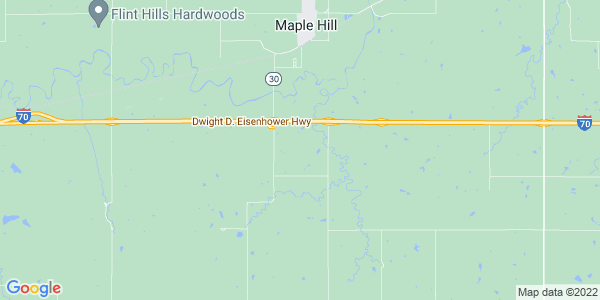 Map of Maple Hill Township, KS