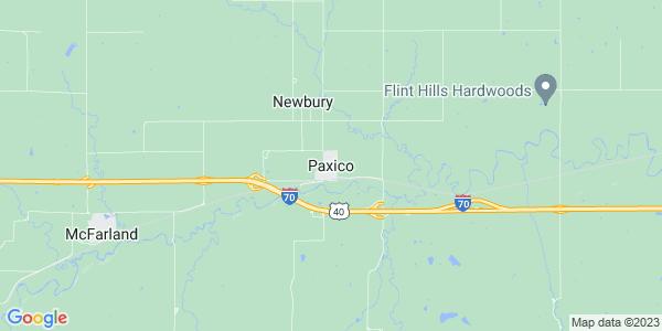 Map of Paxico, KS