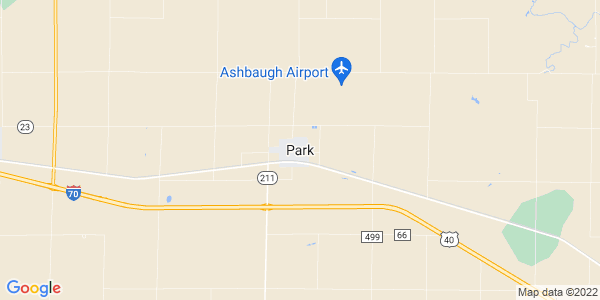 Map of Park, KS