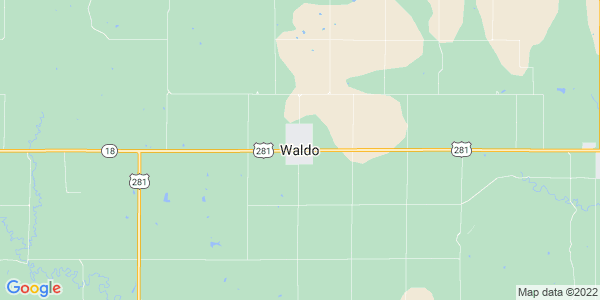 Map of Waldo, KS