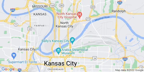 Map of North Kansas City, MO
