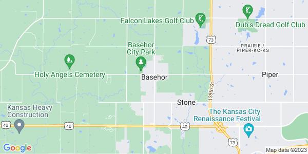 Map of Basehor, KS