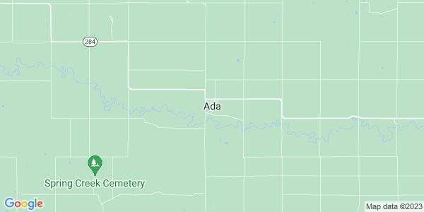 Map of Ada, KS