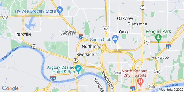 Map of Northmoor, MO