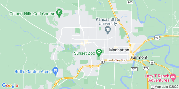 Map of Manhattan, KS