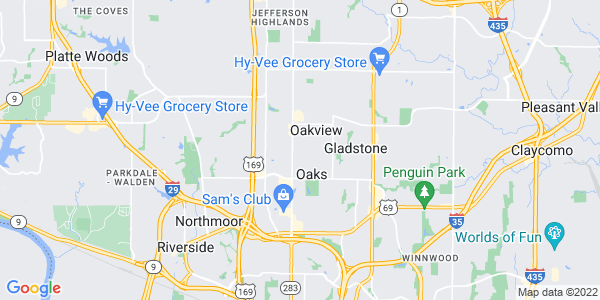 Map of Oakwood Park, MO