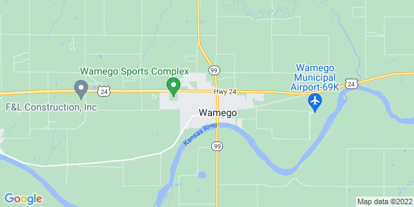 Map of Wamego, KS
