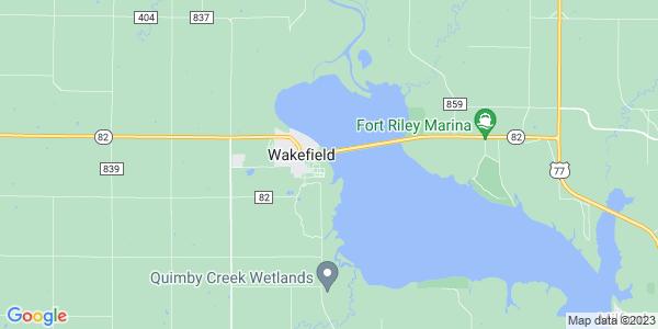Map of Wakefield, KS