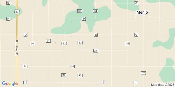 Map of Menlo Township, KS
