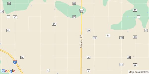 Map of North Randall, KS