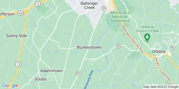 Map of Buckeystown, MD