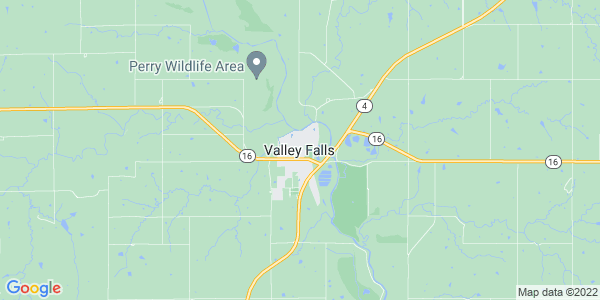Map of Valley Falls, KS