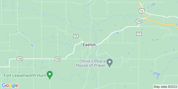 Map of Easton, KS