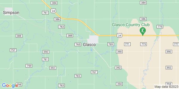 Map of Glasco, KS