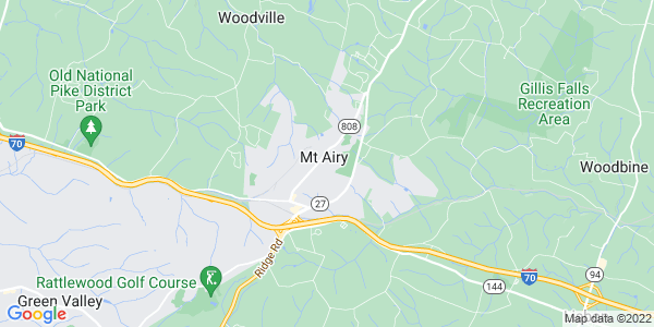 Map of Mount Airy, MD