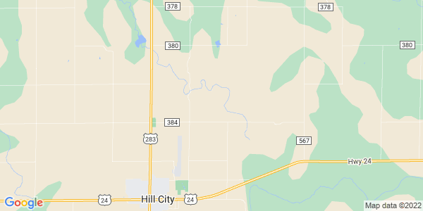 Map of Hill City Township, KS