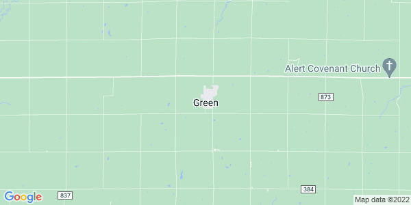 Map of Green, KS