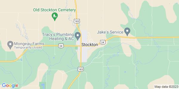 Map of Stockton, KS