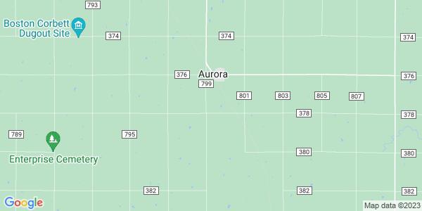 Map of Aurora Township, KS