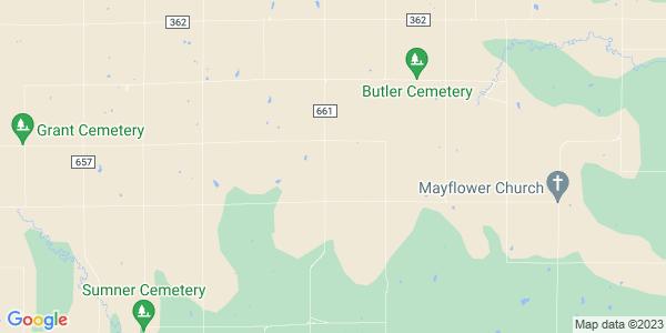 Map of Hawkeye, KS