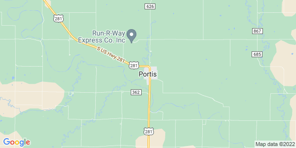 Map of Portis, KS