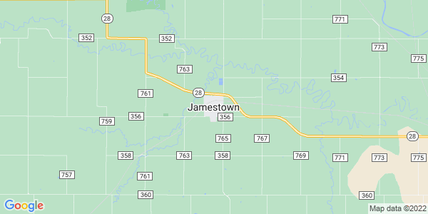 Map of Jamestown, KS
