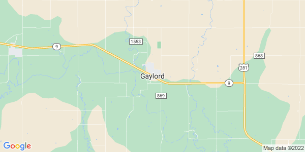 Map of Gaylord, KS