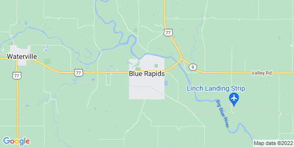 Map of Blue Rapids, KS