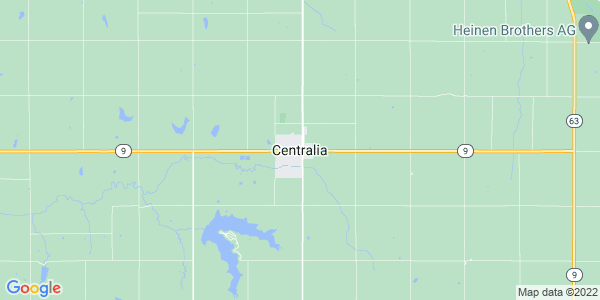 Map of Centralia, KS