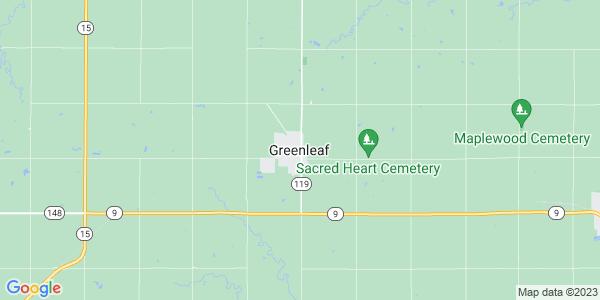 Map of Greenleaf, KS