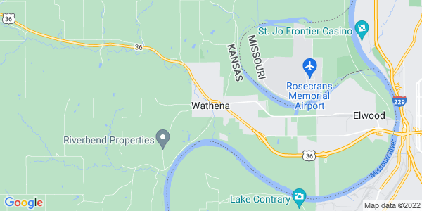 Map of Wathena, KS