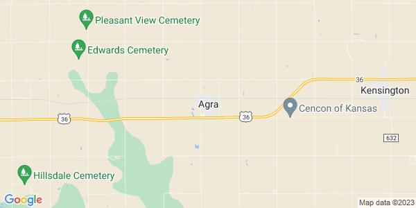 Map of Agra, KS
