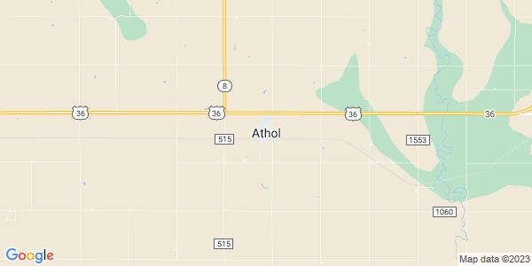 Map of Athol, KS