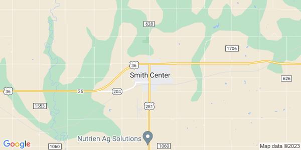 Map of Smith Center, KS