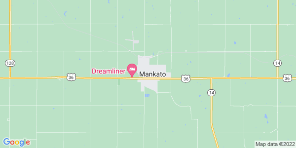 Map of Mankato, KS