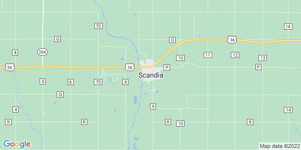 Map of Scandia, KS